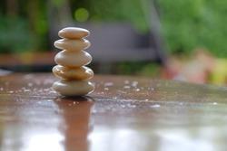 arrangement of stones, the symbol of equilibrium