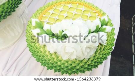 Arrangement of wooden flower arrangements for weddings. #1564236379