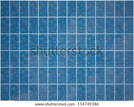 Array of Photovoltaic Solar Panels - High quality render
