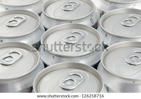 array of unopened soda can