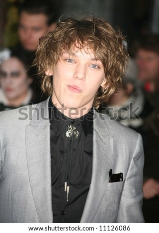Arrivals at the European Premiere of 'Sweeney Todd' at the Odeon Leicester Square on January 10, 2008 in London, England. Jamie Campbell Bower
