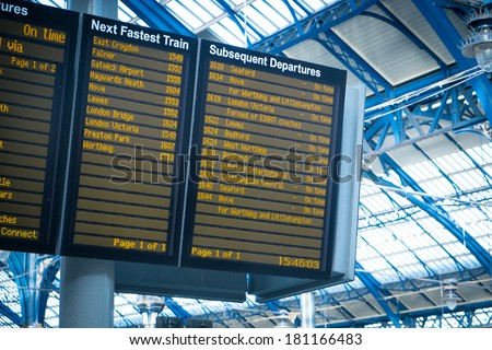 arrivals departure board ...