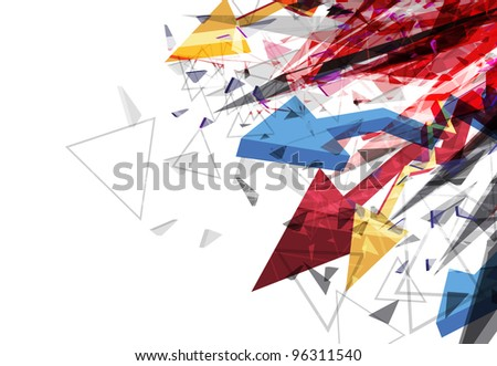 arrow abstract background design illustration