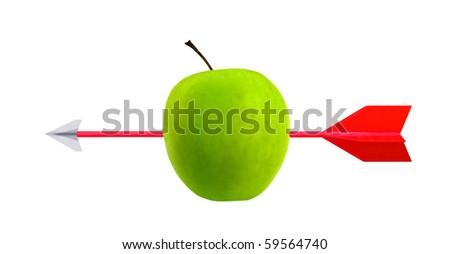 Arrow and apple target