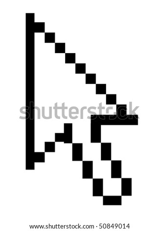 arrow cursor used in computing. Background