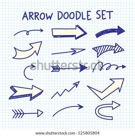Arrow doodle background #525805804