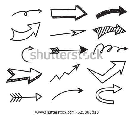 Arrow doodle background #525805813