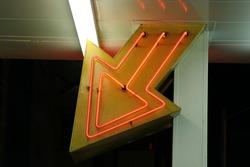 Arrow entrance neon lights