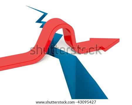arrow go up through gap