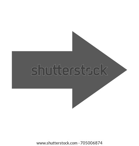 Arrow Icon in trendy flat style isolated on white background.