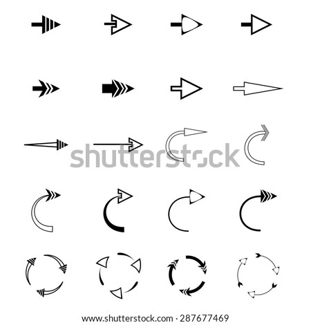 Arrow icons difference shape. Web icons #287677469