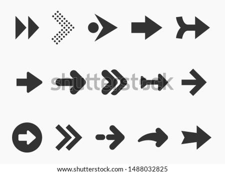 Arrow icons set isolated on white background #1488032825