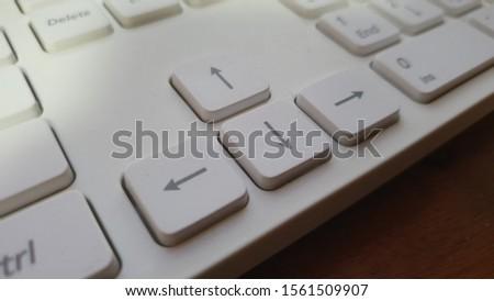 Arrow keys of keyboard, white keyboard, pc keyboard #1561509907