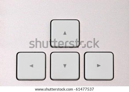 arrow keys on aluminum keyboard