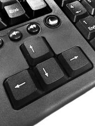 Arrow keys on black keyboard