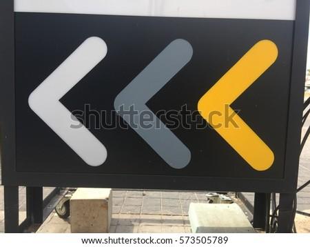 Arrow point to  left #573505789