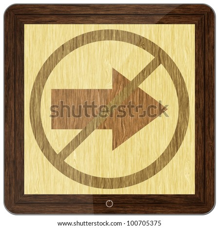 Arrow Sign Illustration, design square tablet computer