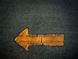 Arrow sign symbol background yellow texture