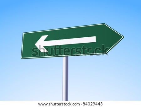 Arrow sign with mistake - check portfolio for more