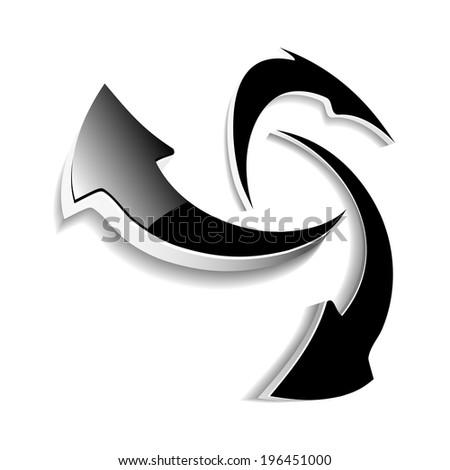 arrow symbol, reload icon, button