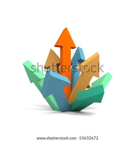 Arrow to success - stock photo