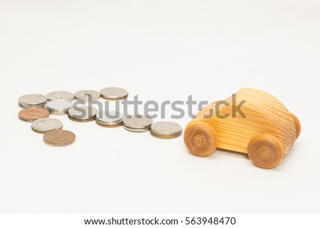Arrows and wooden car #563948470