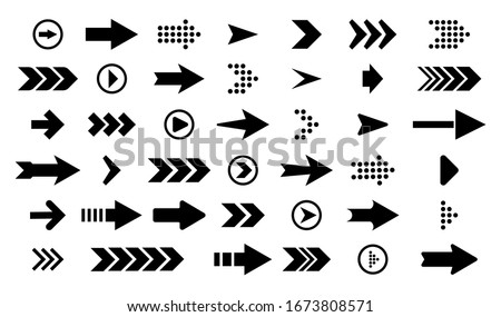 Arrows best set of icons.Arrow buttons in round shape. Set of flat icons, signs, symbols arrow for interface design, web design, apps and more