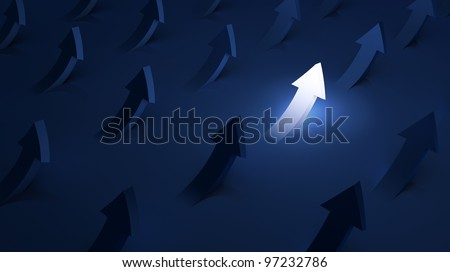 Arrows going up - success concept