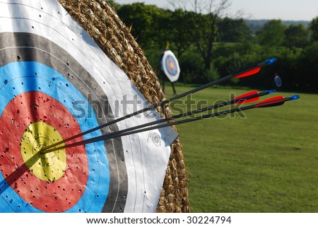 Arrows in center of target