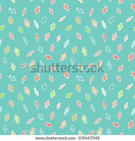 Arrows on a blue background - seamless texture - stock photo