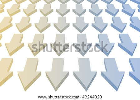 Arrows Pointing Downward as a Abstract Background