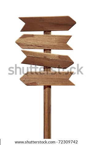 Arrows road sign isolated on white