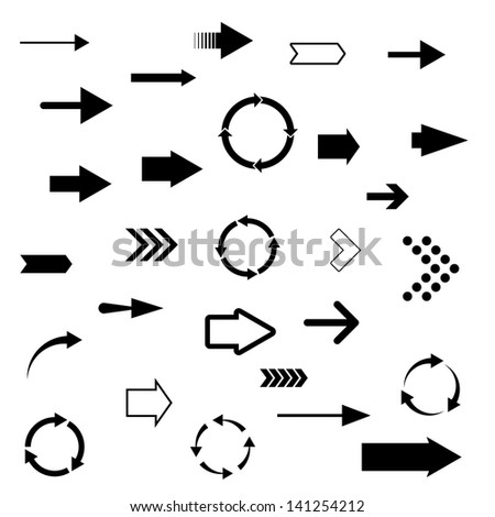 arrows. set of 28 pieces.(vector version also available in my gallery) #141254212