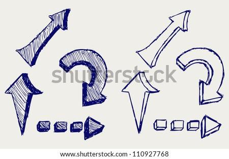 Arrows sketch. Raster