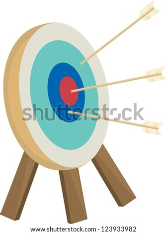 Arrows target with arrows