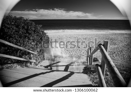 Art abstract black and white infrared photography sea beach