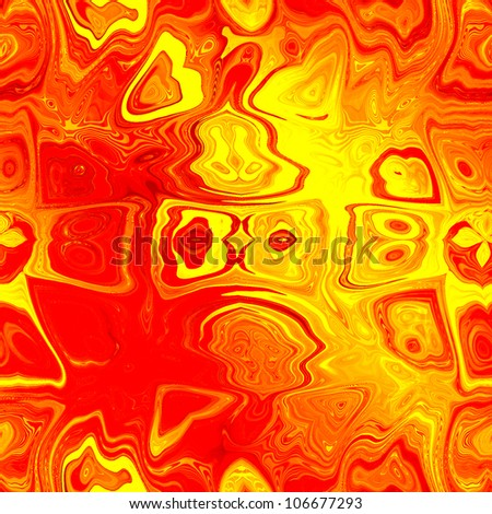 art abstract bright gold and red background; seamless pattern