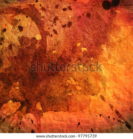 art abstract colorful watercolor background in orange, red and brown colors
