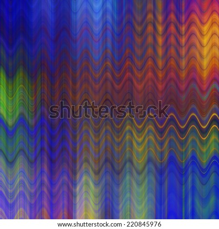 art abstract colorful zigzag geometric pattern background in blue and rainbow colors
