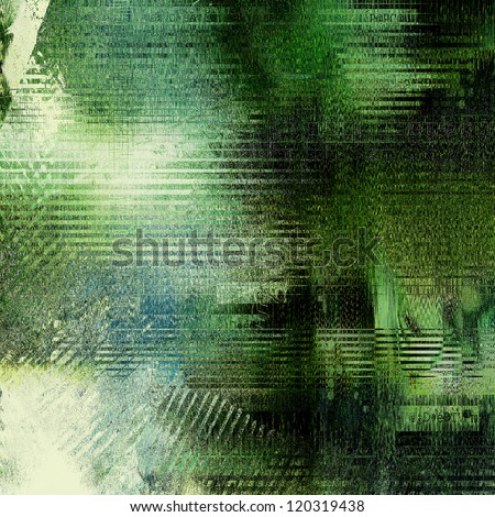 art abstract geometric, grunge, textured green, white and black background