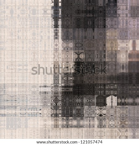art abstract geometric pattern, tiled monochrome paper textured background in white, grey and black colors