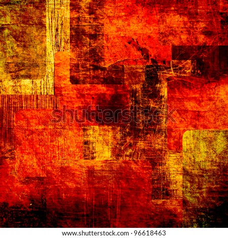 art abstract  grunge squares background