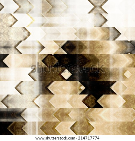 art abstract monochrome geometric stripes pattern; background in white, black, grey, beige and brown colors; vertical seamless ornament