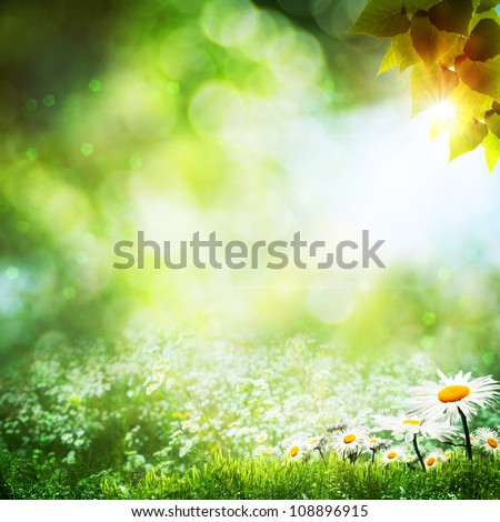 Art abstract natural backgrounds with beauty bokeh