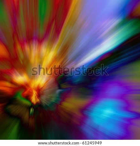 art abstract outburst rainbow background