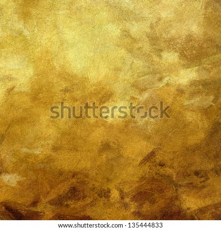 art abstract painted textured monochrome background in old gold and brown colors