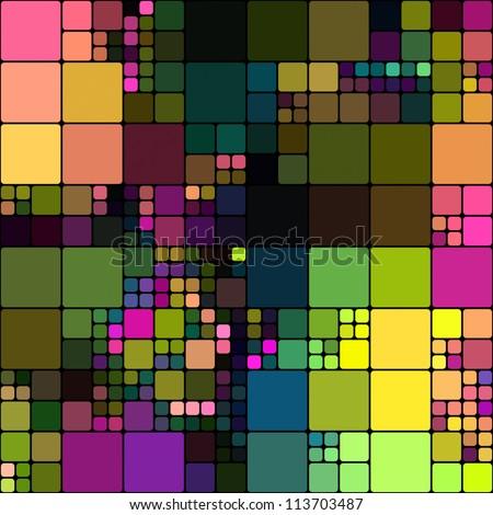 art abstract rainbow geometric tiles seamless pattern background