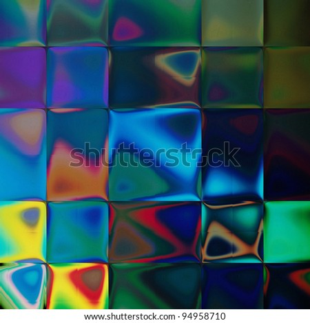 art abstract rainbow tiled pattern blurred background