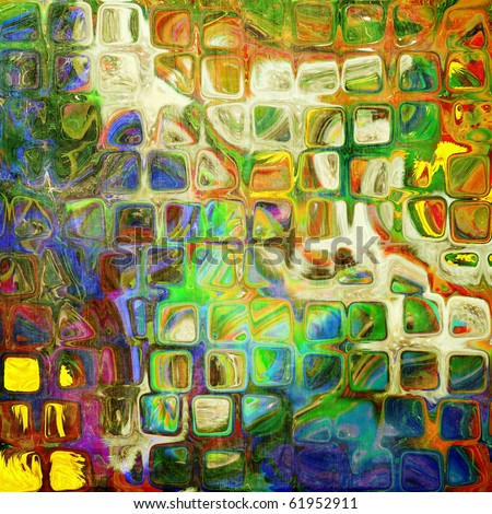 art abstract rainbow tiles pattern background