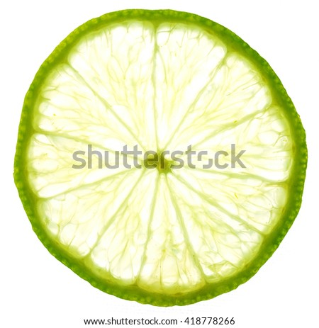 art background from sliced limes #418778266